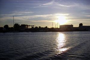 Fischereihafen Sonnenuntergang