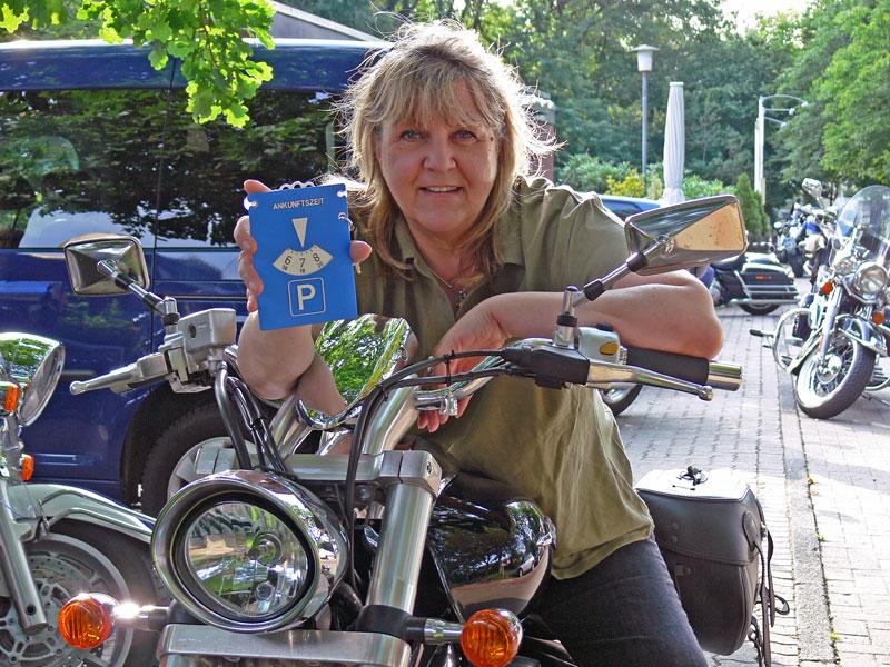 Motorrad-Parkscheibe