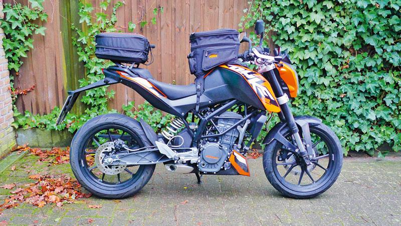 KTM 200 Duke Gepäcksystem