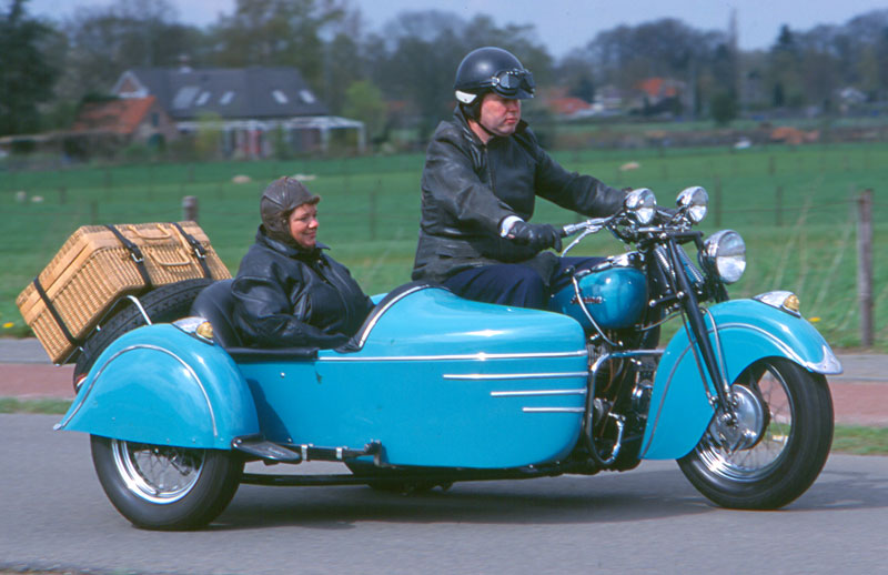 Indian Chief Gespann 1948 Action