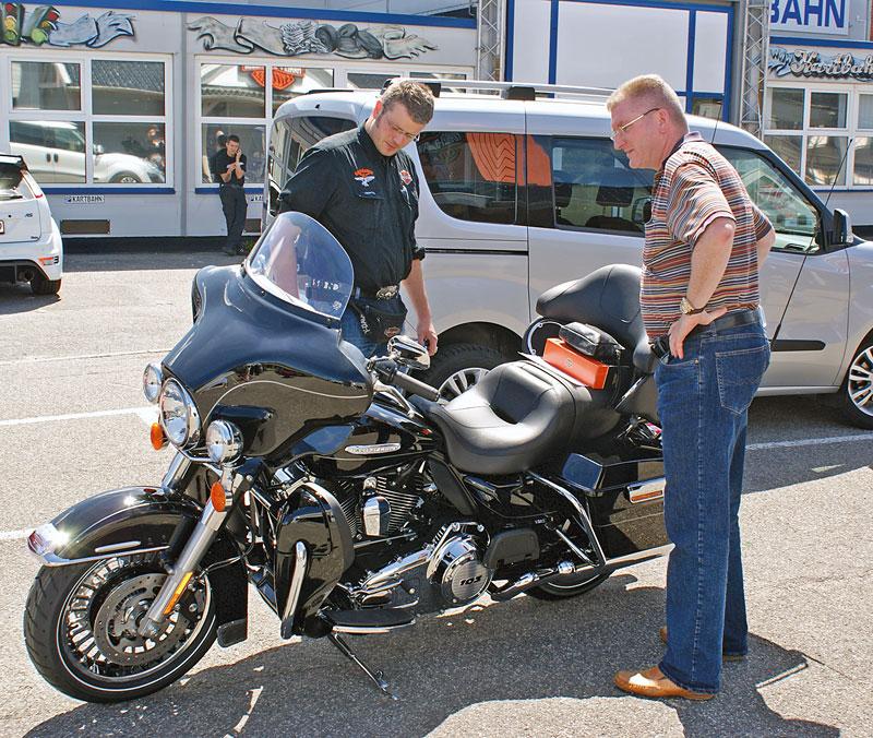 Harley Davidson Electra Glide Uebergabe