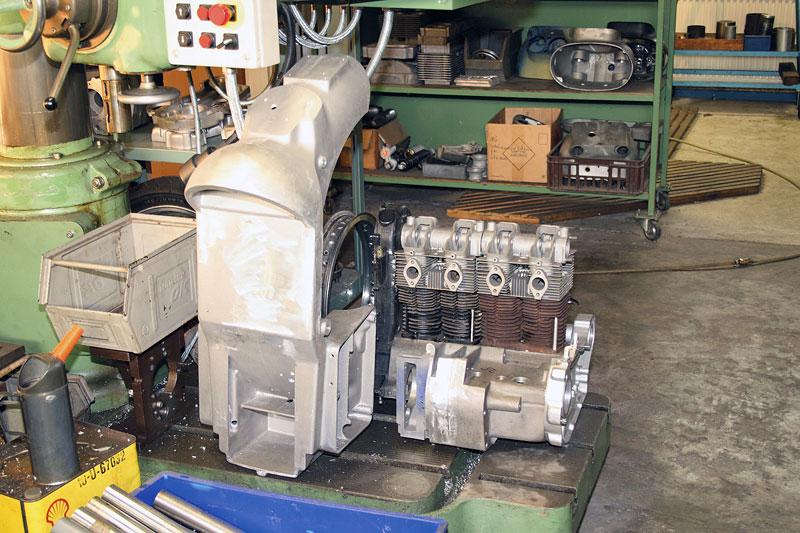 Teile und Motor Vorrat