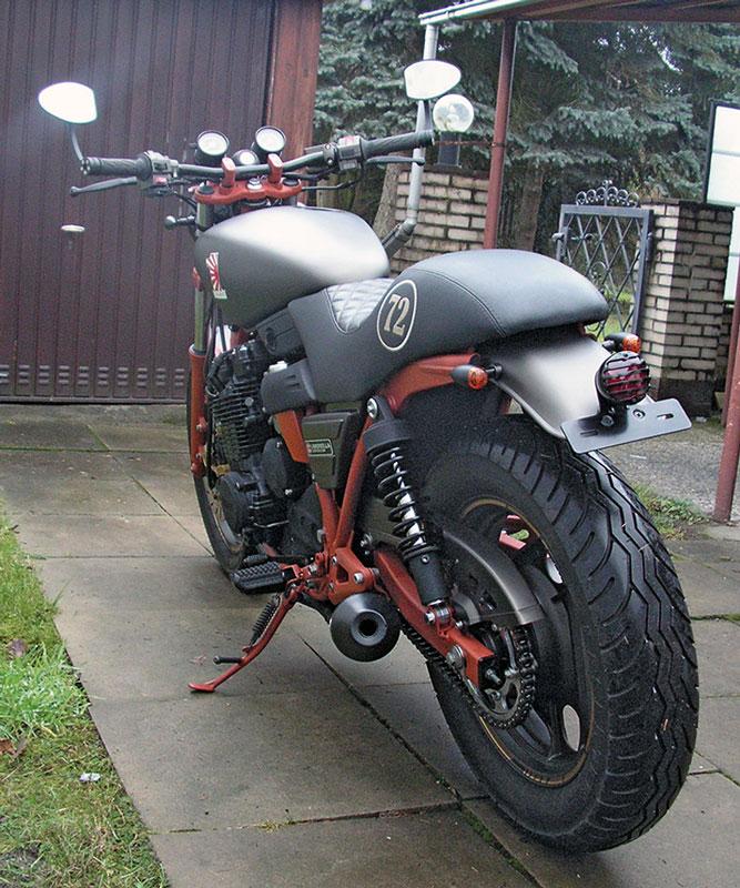 Yamaha Radian Umbau Heck