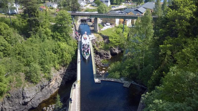 Aquaedukt in Haverud Schweden Dalsland