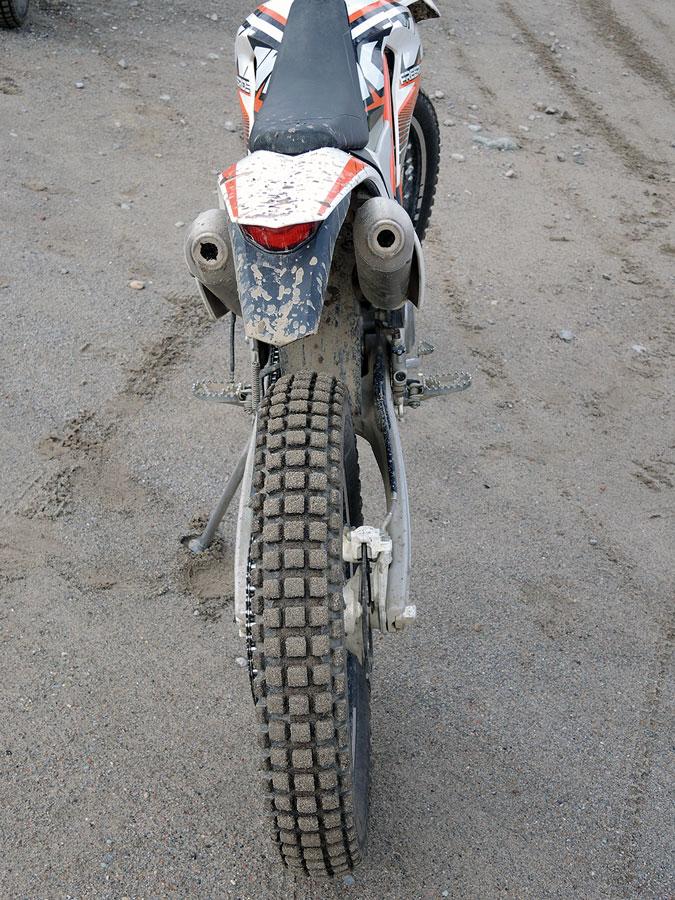 KTM Freeride 350 Heck