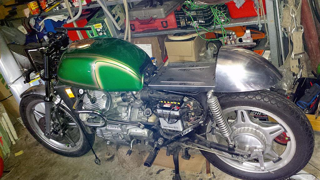 Honda CX500C Cafe Racer Basis und erste Aenderungen