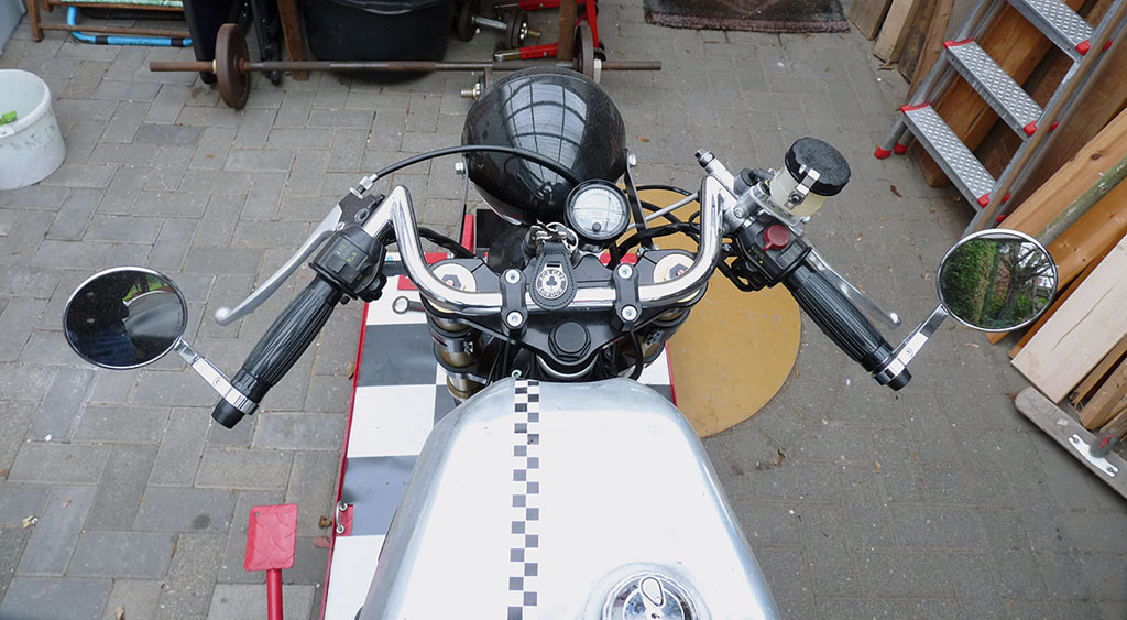 Honda CX500C Cafe Racer Lenker und Cockpit