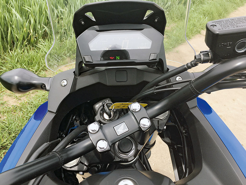 Honda NC750X DCT 2016 Cockpit