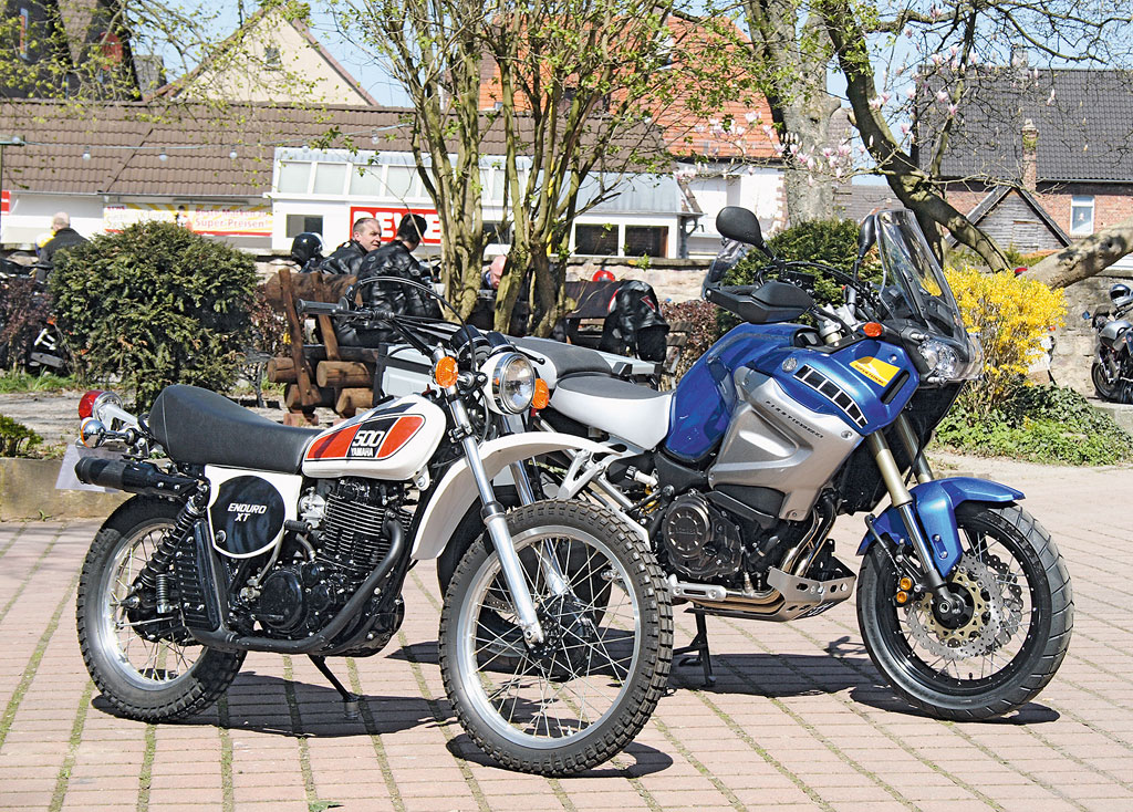 Ur XT500 von 1975 und Yamaha Super Tenere von 2010