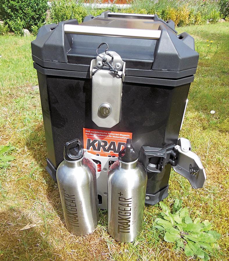 Trax Koffer Trinkflaschen