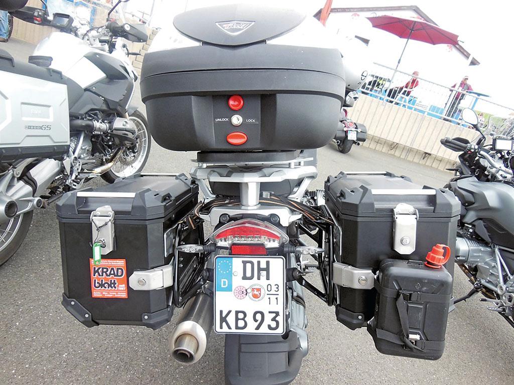 Trax Koffer an BMW GS