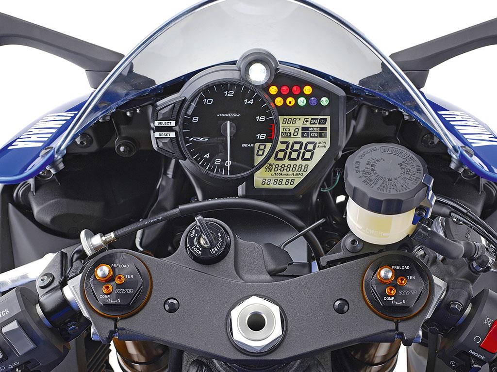 Cockpit - Yamaha YZF-R6 Modell 2017