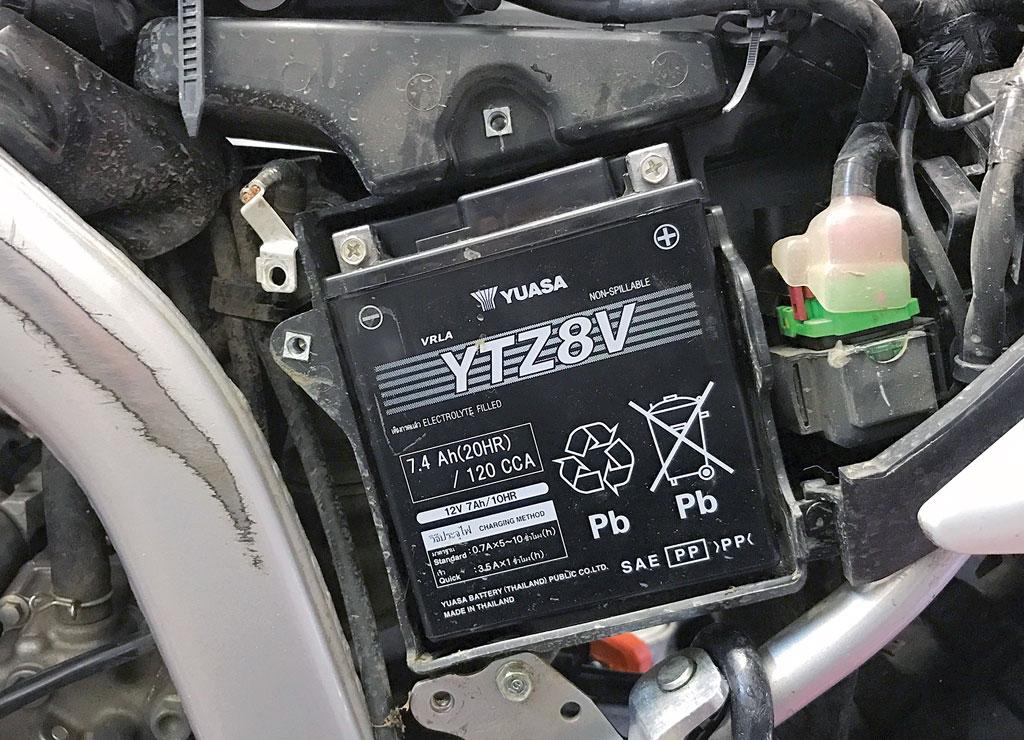 Original-Batterie der Honda CRF 250 L