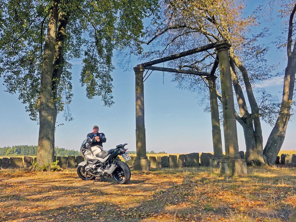 Der Beerfelder Galgen ist der größte und besterhaltene Galgen im Bundesgebiet