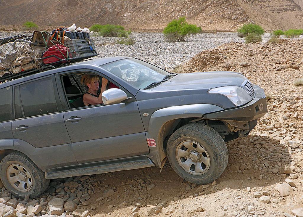 Im Begleitfahrzeug - Geführte Endurotour Marokko