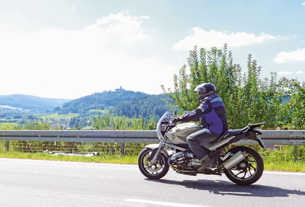 Motorradfahren im Odenwald