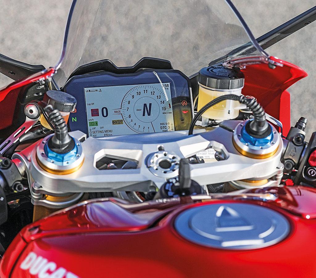 Cockpit - Ducati Panigale V4 S Modell 2018