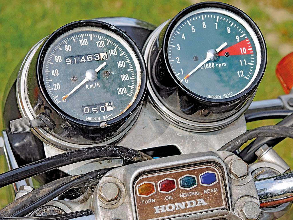 Cockpit - Honda CB 500 Four