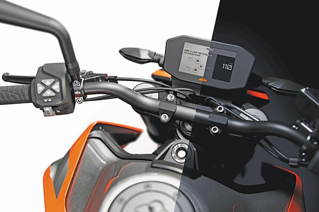 "Cockpit Tag/Nacht-Ansicht, KTM 790 Duke ""The Scalpel"", Modell 2018"