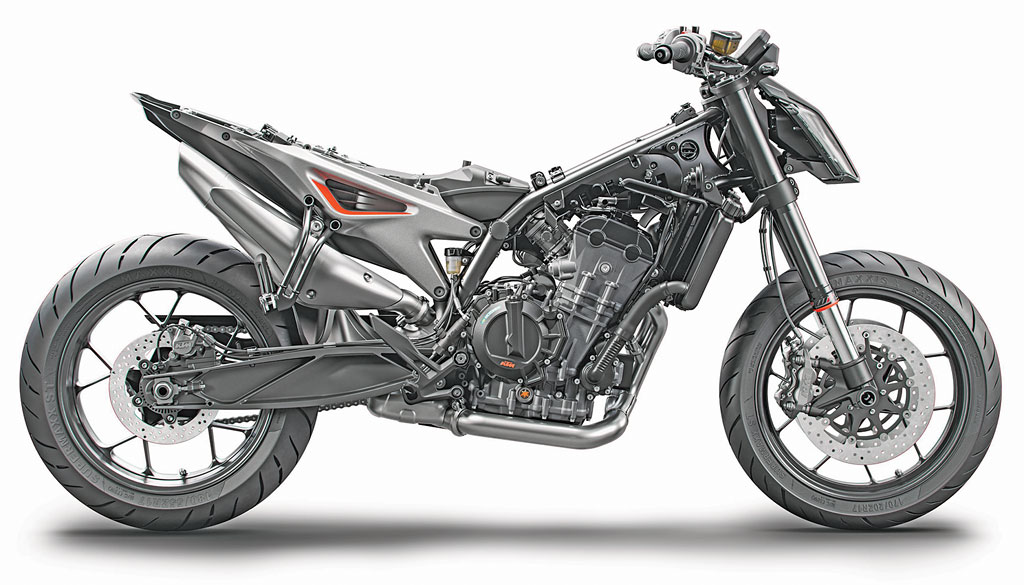 """Gestrippt: KTM 790 Duke """"The Scalpel"""", Modell 2018"""
