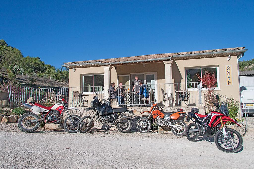 Unterkunft - Endurowandern in Südfrankreich