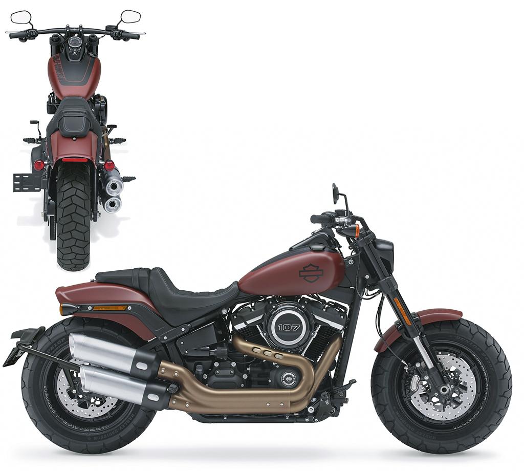 Kennzeichenträger-Variationen für Harley-Davidson Fat Bob, Modell 2018