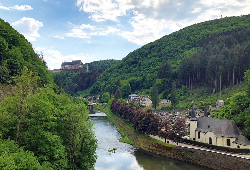 Luxemburg-Motorradtour, Schloss Vianden