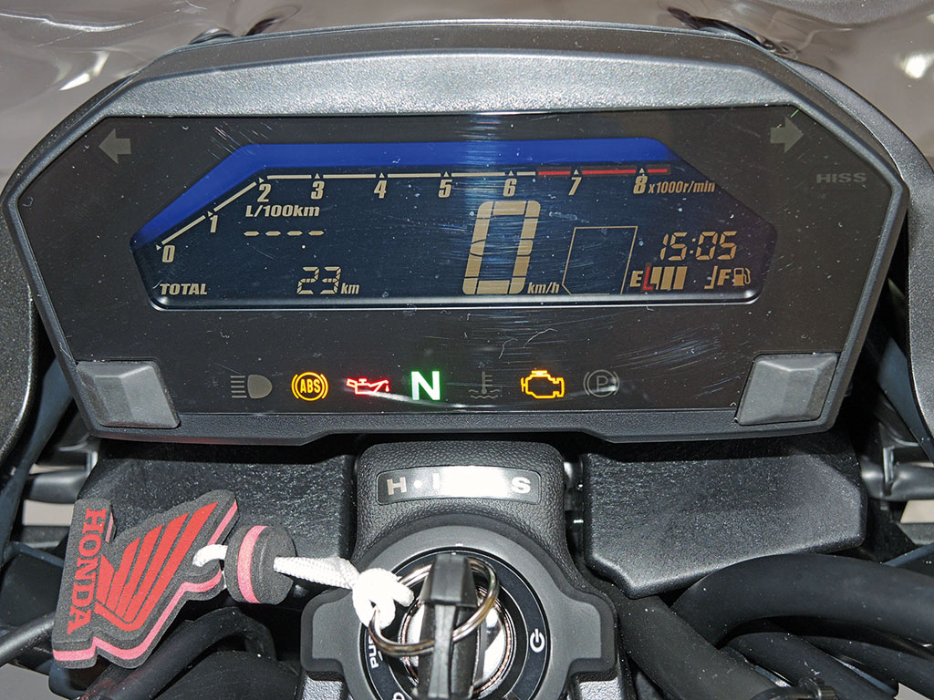 Cockpit Honda NC 750 S DCT, Modell 2017