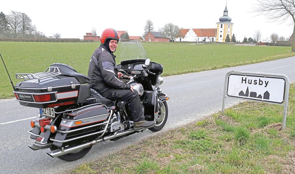 In Husby mit Harley-Davidson Ultra Classic Electra Glide, Bj. 1989