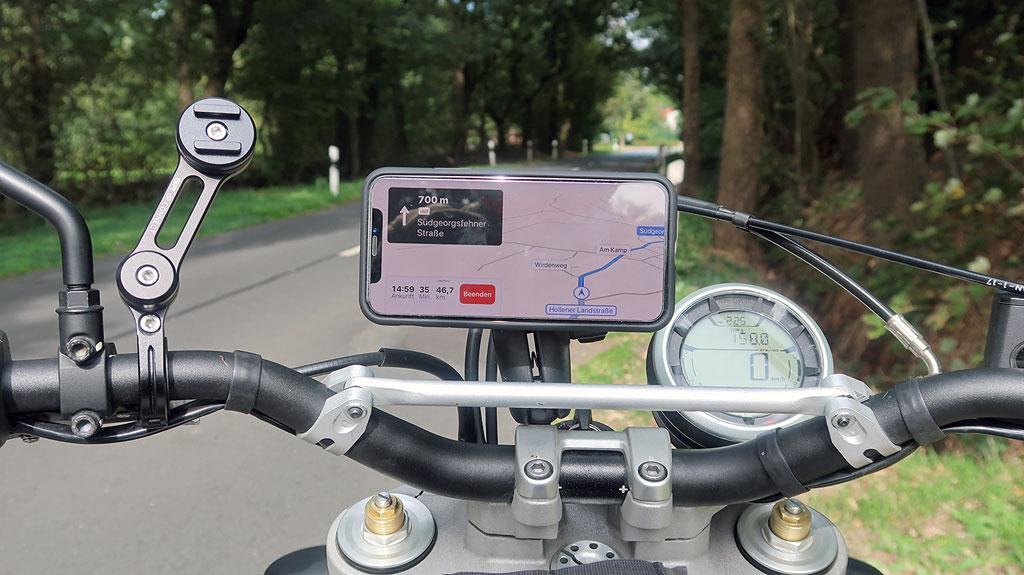 SP Connect Halterungen am Motorrad