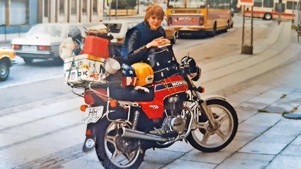 In den 1980er Jahren - Honda CB 250 N