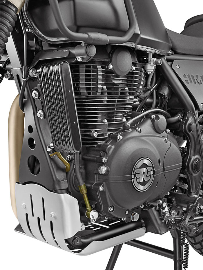 Motor mit Kühler - Royal Enfield Himalayan, Modell 2018
