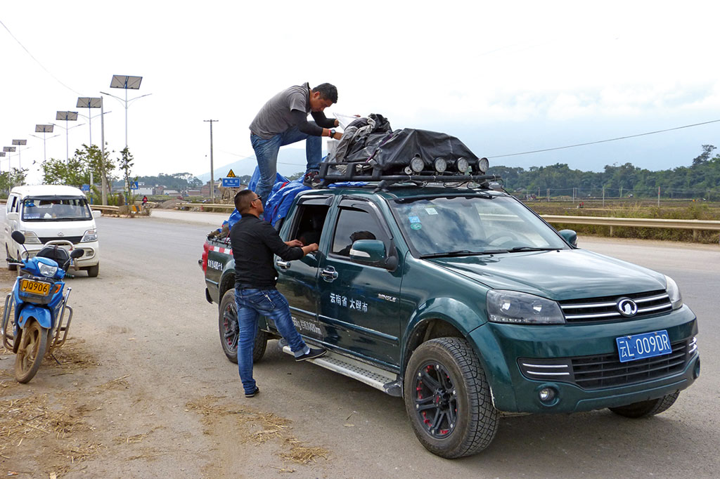 Unser Pickup - Motorrad-Gruppenreise Yunann, China