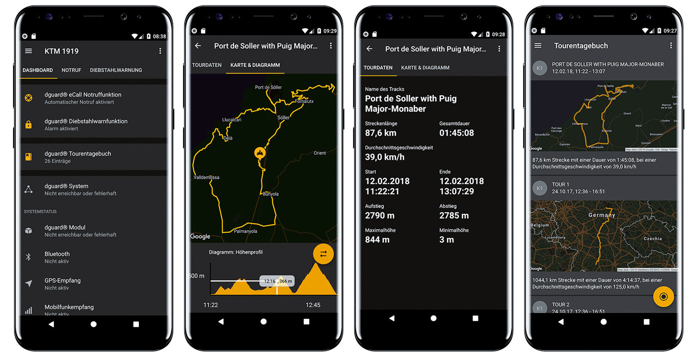 dguard Tagebuchfunktion per App