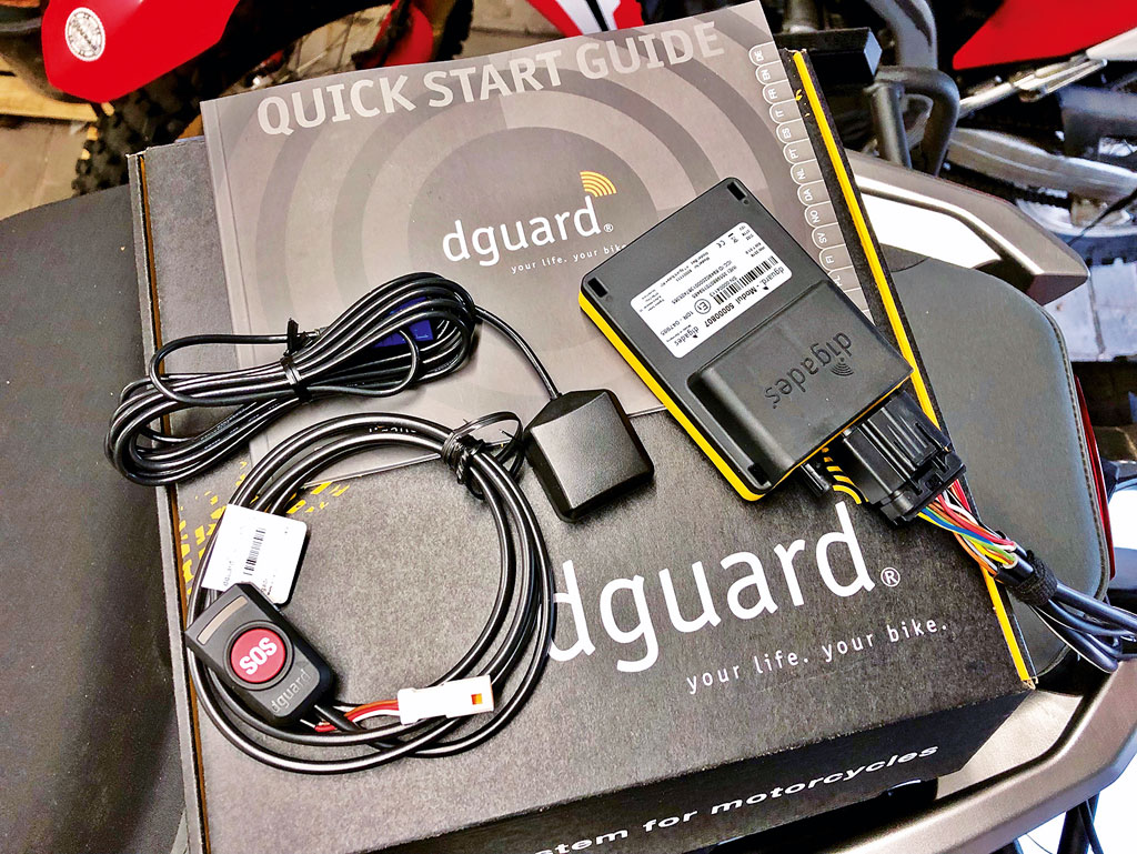 dguard Motorrad eCall Systemelemente