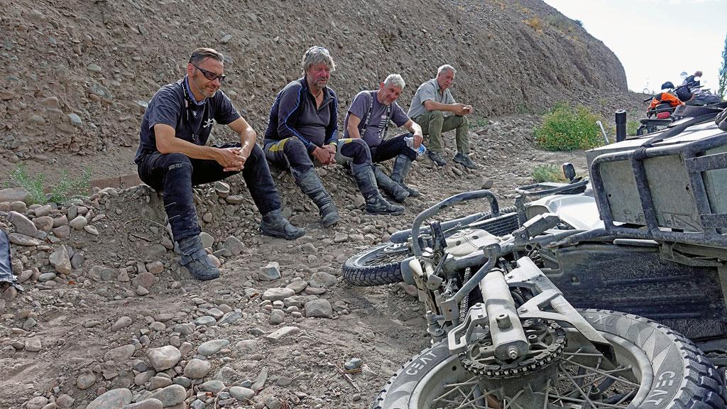 Panne - Gruppenreise Indien / Himalaya mit Royal Enfield Motorrädern
