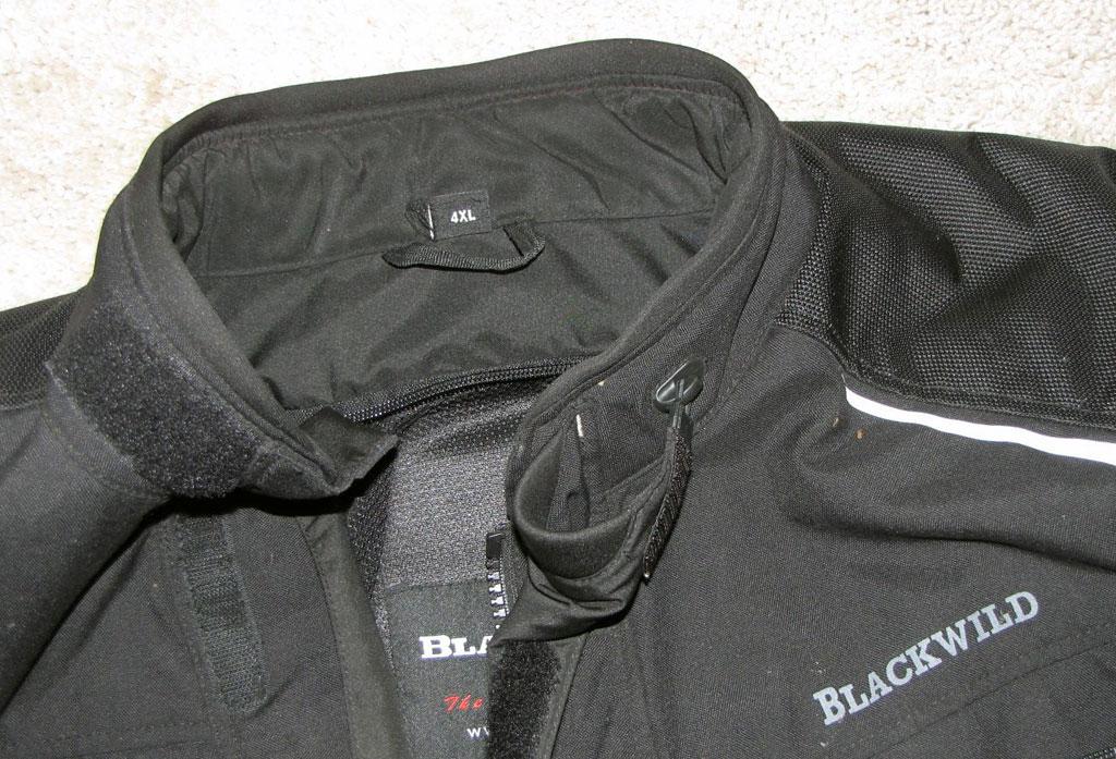 Kragen-Befestigung, Blackwild Nr.1 Textilkombi