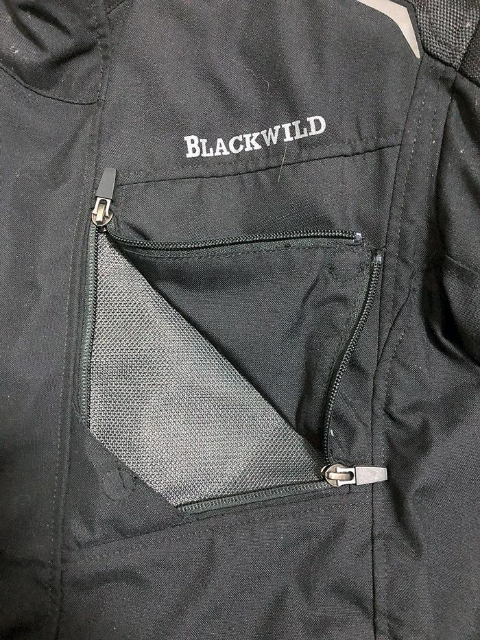 Brust-Lüftungsöffnung, Blackwild Nr.1 Textilkombi