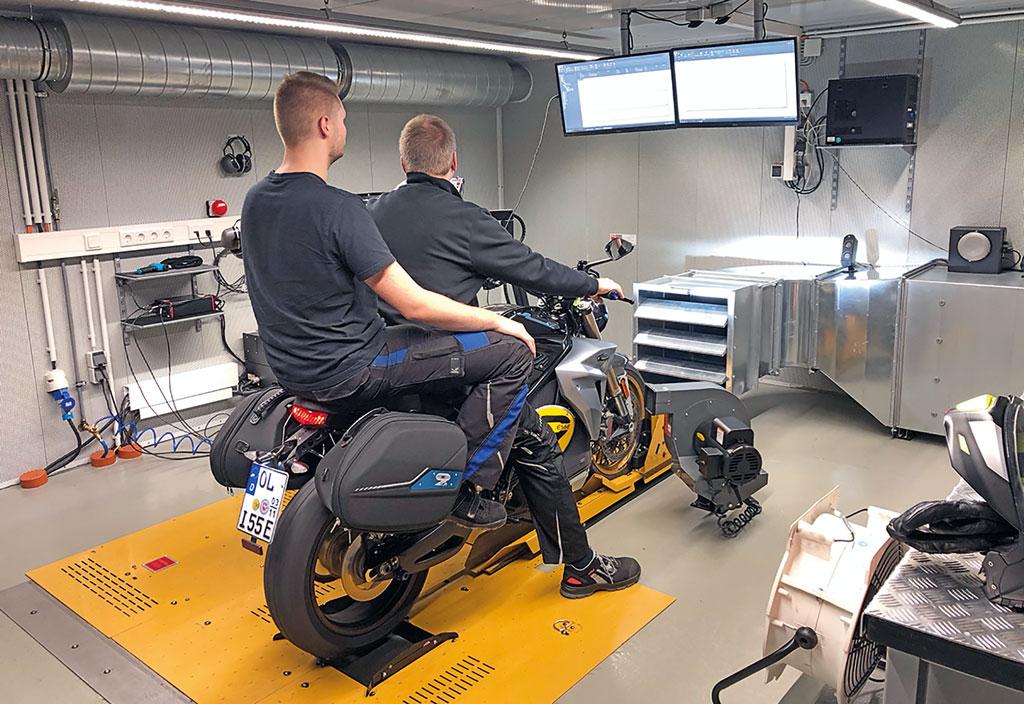 Bei Börjes American Bikes auf dem Dynojet: Energica EsseEsse9 Special, Modell 2019