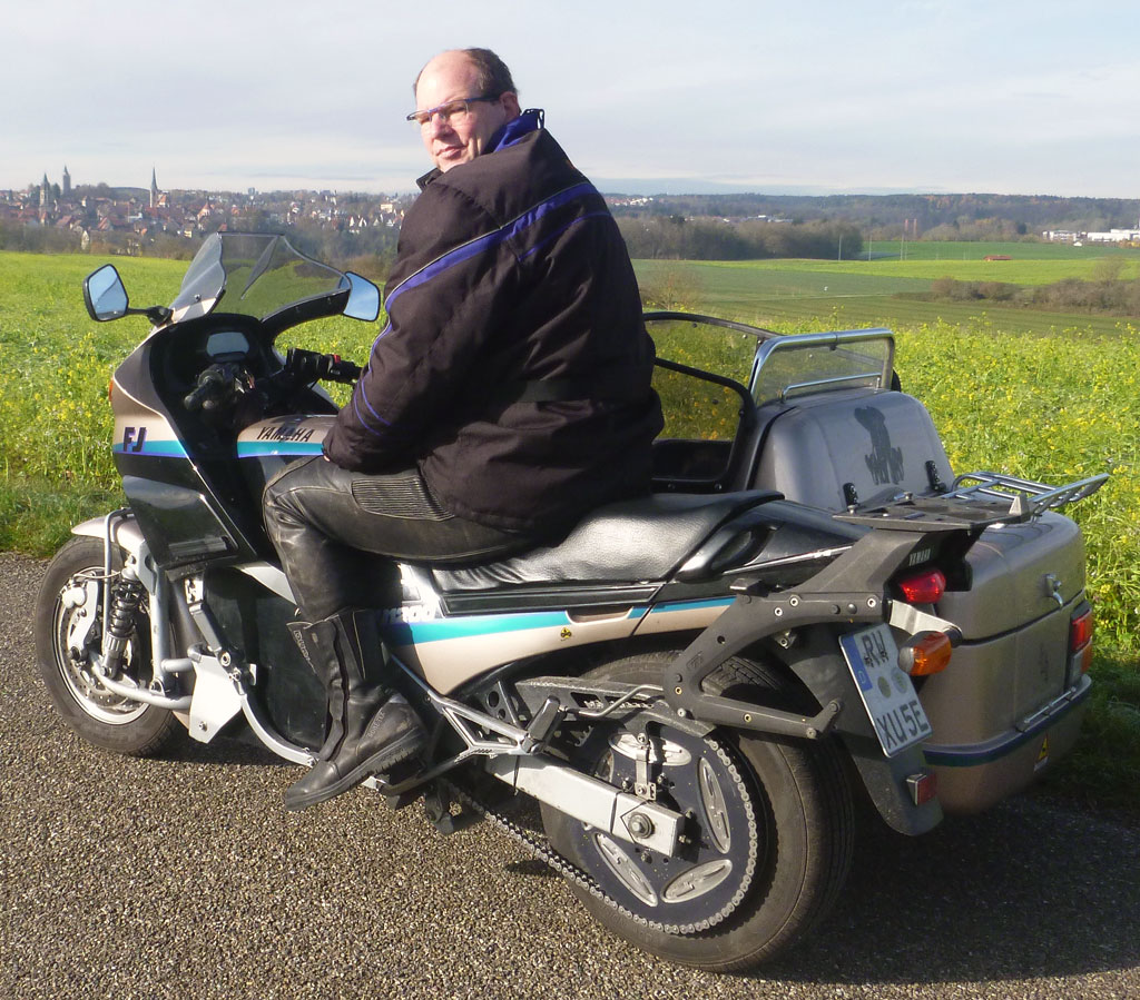 Umbau Yamaha FJ Gespann mit Zero Antrieb
