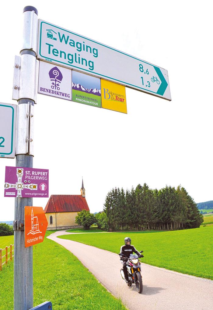 Motorradtour auf dem Benediktweg