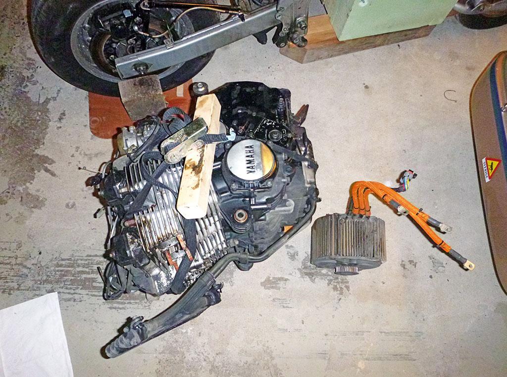 Vergleich - Yamaha FJ vs. Zero Motor