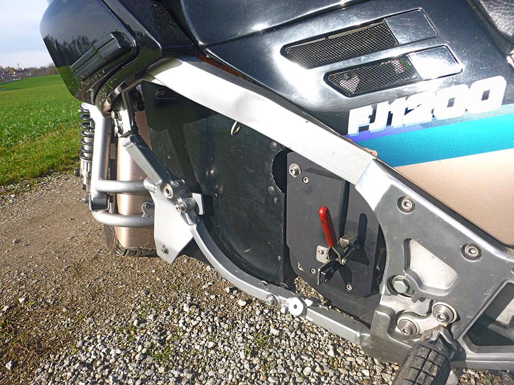 Feststellbremse - Yamaha FJ Gespann mit Zero Antrieb