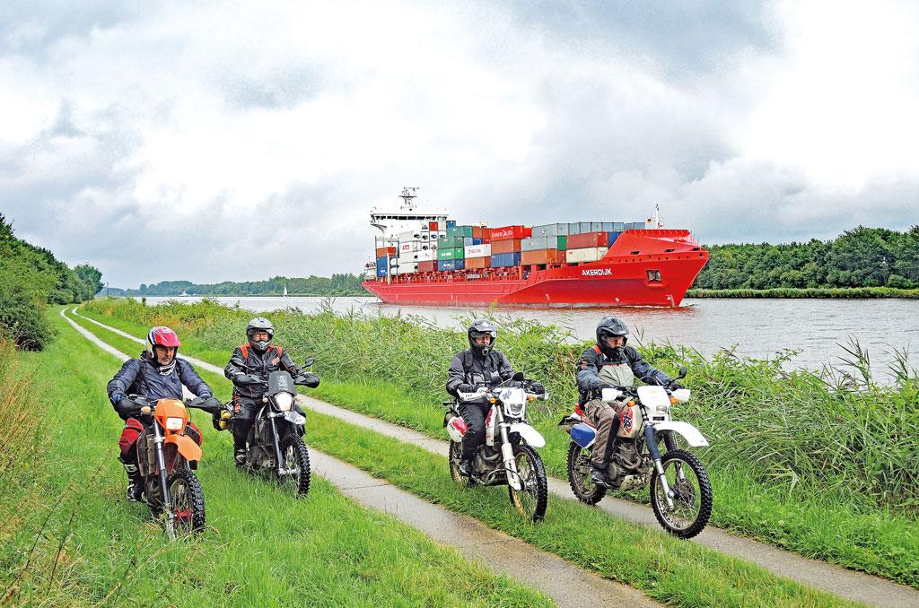Endurotour am Nord-Ostsee-Kanal