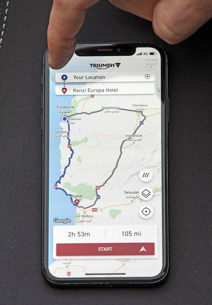 Triumph-App für volle Connectivity
