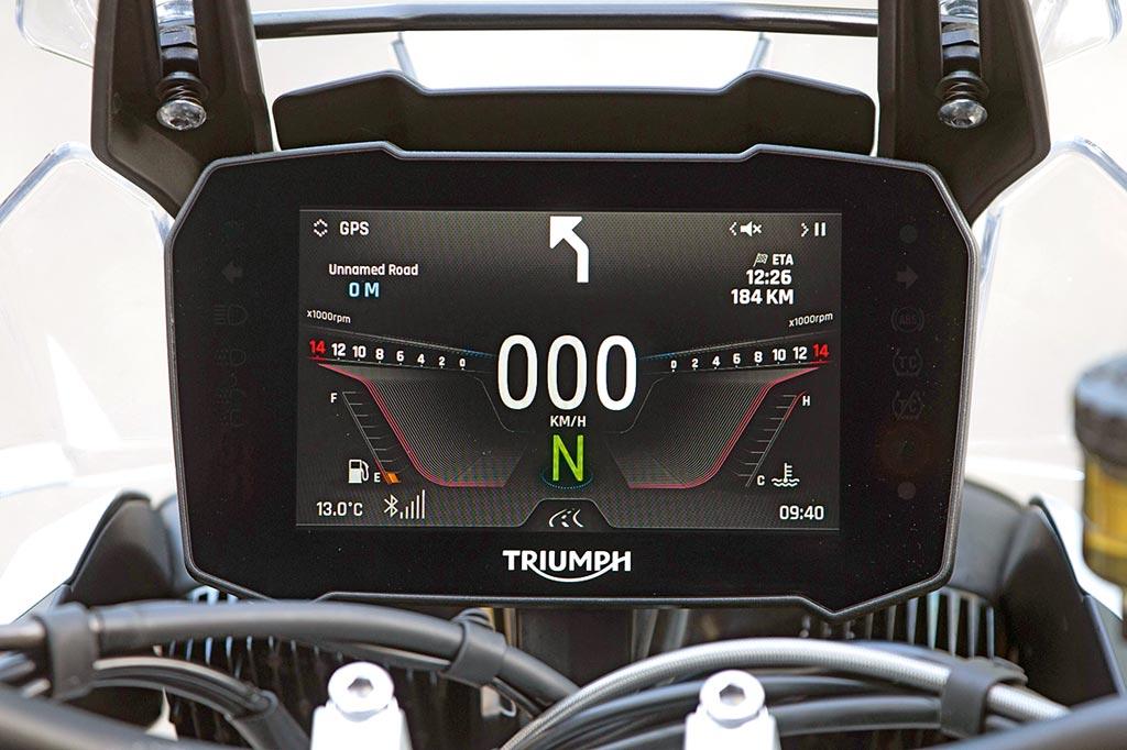 TFT-Display - Triumph Tiger 900 GT & Rally Pro, Modell 2020