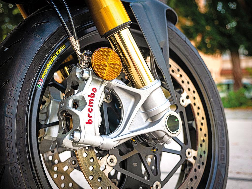 Mächtige Brembo-Bremsanlage der Ducati Streetfighter V4 S - Modell 2020