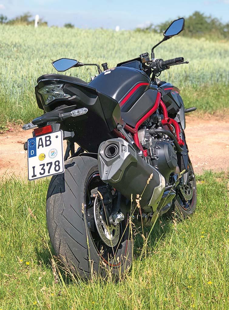 Heckansicht - Kawasaki Z H2, Modell 2020