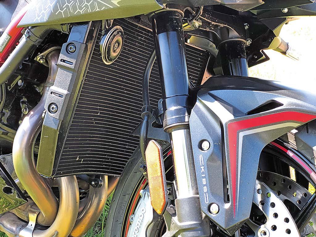 Der Kühler der Kawasaki Z H2, Modell 2020