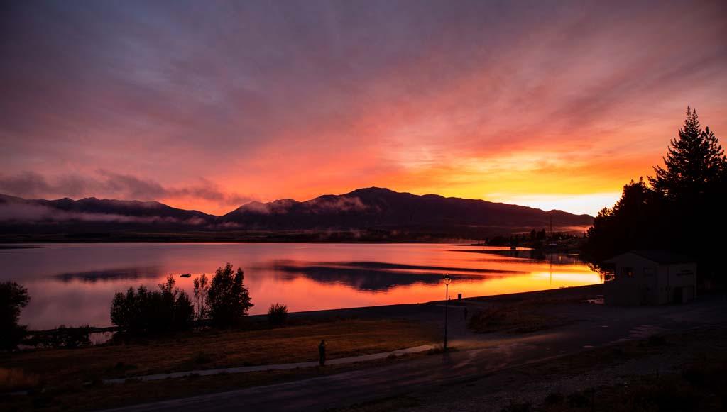 Wunderschöner Sonnenuntergang bei der BMW GS Trophy 2020 in Neuseeland